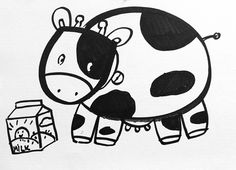 Learn how to draw easy! In this drawing, you can learn to draw the adorable cow as a cute cartoon character step by step from the popular Youtube art channel Cloud Art for kids!