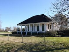 FANNIE RICHE PLANTATION aka SCHEXNAYDER HOUSE, Highway 420, New Roads, Pointe Coupee Parish, LA. No longer a raised Creole plantation house, its brick lower story removed, the most significant story survives and with most of its original character-defining features intact. 01.18.2009