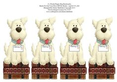 4 x Westie Puppy Dog Bookmarks Backs For cup241153 604  on Craftsuprint designed by Elaine Sheldrake - These cute West Highland Terrier Bookmarks are designed to go back to back with cup241153_604, or they can be used as is. - Now available for download!