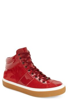 JIMMY CHOO 'Belgravi' Suede High Top Sneaker (Men). #jimmychoo #shoes #