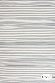 RugStudio presents Dash And Albert Rugby Stripe Light Blue Flat-Woven Area Rug