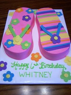 0cbf03868fae42 flip flop cake! I need this for my bday!!! Flip Flop Cakes