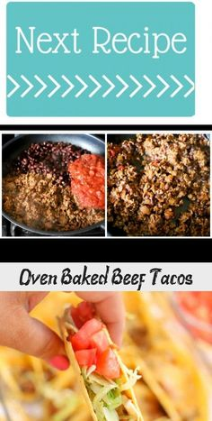 Oven Baked Beef Tacos - Seafood Recipes - #oventacos - Oven Baked Beef Tacos - Seafood Recipes... Oven Baked Tacos, Baked Chicken Tacos, Chicken Taco Recipes, Oven Chicken, Seafood Recipes, Tandoori Fish, Fish Tacos With Cabbage, Weekly Dinner Menu