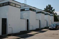 Chapter 24 - The Bauhaus - Architecture - Houses, Weissenhof Housing Development, Werkbund Exhibition, 1927, Stuggart, Germany; J.J.P.Oud