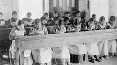 At least Native American children died in residential schools, research shows (from children in care) Native Canadian, Canadian History, American History, Canadian Girls, American Art, Aboriginal Children, Aboriginal People, Native American Genocide, American Indians