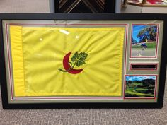 Golf flag displays we do a lot of them !