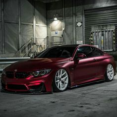 BMW Z-Performance F82 M4 burgundy slammed