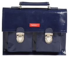 Mini cartable Bakker Made With Love Navy vinyle chez Bianca and Family