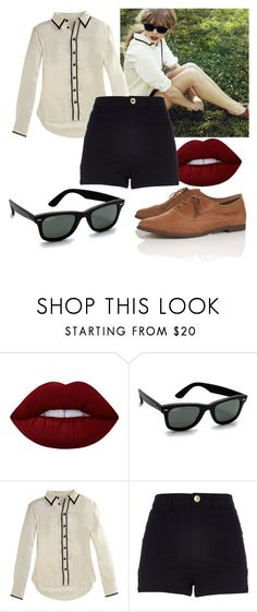 """""""Untitled #451"""" by vickyagh on Polyvore featuring Lime Crime, Ray-Ban, rag & bone, River Island and Topshop"""