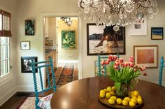(eclectic dining room by Tommy Chambers Interiors, Inc.)