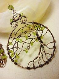 tree of life wire pendant