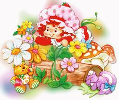 Strawberry Shortcake Characters, Vintage Strawberry Shortcake, Glitter Pictures, Cute Pictures, Gif Animé, Animated Gif, Cute Gifs, Gif Mignon, Gif Fete