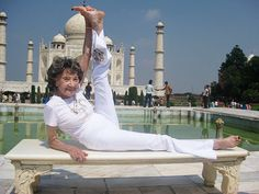 """""""Let us will ourselves to live our life, not by empty words, but the radiance of meaning them and believing them. Our smile lights up our body with health."""" ~Tao Porchon-Lynch, 94, World's Oldest Yoga Teacher"""