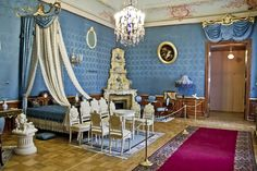 The bedroom of Princess Zenaida Yusupova~ YUSUPOV PALACE, MOIKA CANAL, SAINT PETERSBURG, RUSSIA