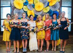 10 Unique Ways to Style Your Bridesmaids for Your Big Day via Brit + Co.