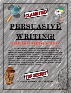 Persuasive Writing: Writing Skills for Students! Template for Many Topics!...