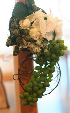 チェアフラワー ぶどう と 秋の新規受注について : 一会 ウエディングの花