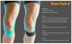 Kinesiology taping instructions for knee pain