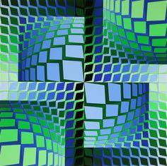 THEZ, Ltd Ed Silk-screen, Victor Vasarely – Art Commerce