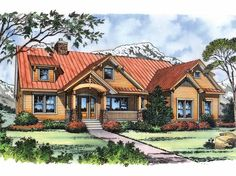 Craftsman House Plan with 2326 Square Feet and 3 Bedrooms from Dream Home Source | House Plan Code DHSW43325