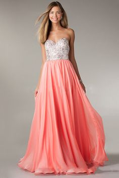 2014 Sweetheart Embellished Bodice With Silver Lace A Line Floor Length Chiffon Dress