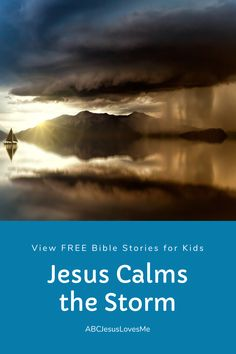 Enjoy an interactive Bible story by video and FREE activities for your preschool and elementary-aged child.  Your child will enjoy a Bible story, song, and memory verse time with Ms. Heidi.  #preschoolBible #ABCJesusLovesMe #BibletimewithMsHeidi #jesuscalmsthestorm Bible Stories For Kids, Jesus Stories, Jesus Calms The Storm, Calming The Storm, Preschool Bible, New Bible, 3 Year Olds, Interactive Stories, Memory Verse
