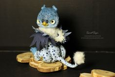 Snow Griffin OOAK posable doll gift spirit fantasy by SweetSign