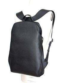 Guaranteed authentic Hermes 27 jet black CityBack gentleman's backpack. Sleek and chic in Epsom Souple with Palladium hardware. Beautifully shaped adjustable straps and top handle. Side design detail