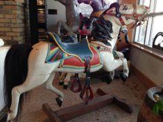 Herd of 5 Antique Wood Carousel Horses 3 Herschells and 2 CW Parkers Original   eBay