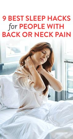 pain relief remedies: 9 Best Sleep Hacks For People With Back or Neck Pa. Sore Neck And Shoulders, Neck And Shoulder Pain, Neck And Back Pain, Yoga Shoulder, Shoulder Tension, Neck Pain Remedies, Pinched Nerve In Neck, Severe Neck Pain, Neck Exercises