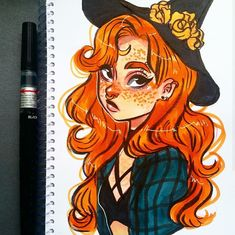 sketch of a witch Art Drawings Sketches, Cool Drawings, Pretty Art, Cute Art, Copic Marker Art, Copic Markers, Witch Drawing, Arte Sketchbook, Witch Art