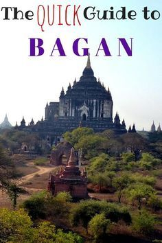 Guide to Bagan, Myanmar. Things to do in Bagan, where to eat, best hotels, how to get around, Bagan with kids and lots of other information to plan your trip! http://www.wheressharon.com/asia-with-kids/things-to-do-in-bagan/?utm_content=buffer9b9b0&utm_medium=social&utm_source=pinterest.com&utm_campaign=buffer