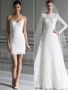 Monique Lhuillier --'Catherine' and 'Pippa'