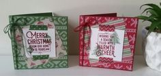 Stampin' Up! Demonstrator stampwithpeg – Quick Card Thursday, Christmas 'Warmth & Cheer' cards For quick card Thursday this week I have made some cards to match Tuesdays tags,