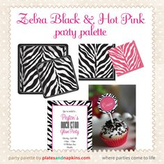 Zebra Black & Pink is one of the hottest party themes!