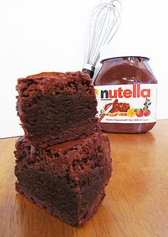 Nutella Brownies!  Oh my!  What a great idea. I am going to try this recipe.