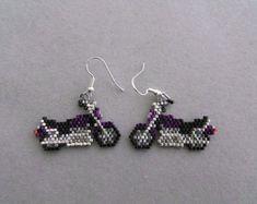 Beagle Earrings in Delica Seed Beads by DsBeadedCrochetedEtc