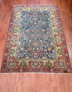 Hereke Turkish rug beautiful colors and design by Centreofrugs, $1699.00