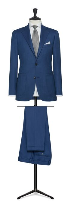 blue made to measure suit Made To Measure Suits, Blazer, Summer, Jackets, Check, Fashion, Down Jackets, Moda, Summer Time