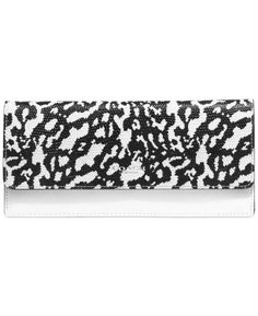 Coach Bleecker Soft Wallet in Exotic Leather (Silver/White/Black)