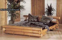 Unique bamboo bed design.