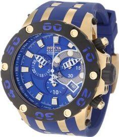 e718b29ab9e Invicta Men s 0914 Subaqua Reserve Chronograph Blue Dial Blue Polyurethane  Watch