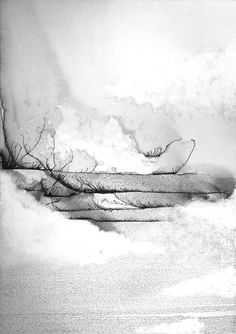 Beth Nicholas SolitudeOil and Ink85cm x 60cm