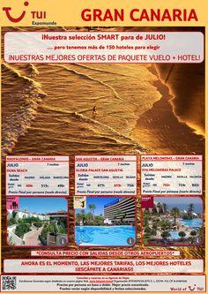 #Grancanaria te espera en #julio con nuestra #oferta #smart de #vuelo y #hotel