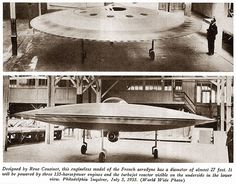 lenticular reentry vehicle lrv | Couzinet, contd) A 3/5th scale model made of wood with what appeared ...