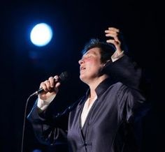 What a sight! Her voice is like maple but with the momentum of a mudslide. k.d. lang at Shea's Buffalo