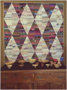 String Pieced Diamond Quilt by Evelyn M. Hoeppner -Pembina Hills Art Gallery-