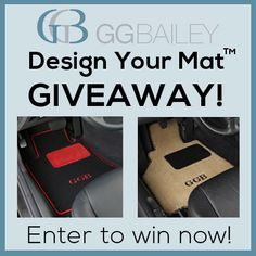 Pin this, then visit our site for a chance to win a set of custom fit car floor mats that you will design yourself! Click for details.