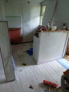 Te kitchen floor - which was a hole a few weeks ago - see below