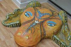 Kunstsamlingen | Artist: Barbara Kaad Ostenfeld | Title: Ingen titel | Height: 25cm,  Width: 60cm | Find it at kunstsamlingen.com #kunstsamlingen #kunst #artcollection #art #painting #maleri #galleri #gallery #onlinegallery #onlinegalleri #kunstner #artist #danishartists #bakaos
